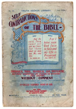Self Contradictions of the Bible